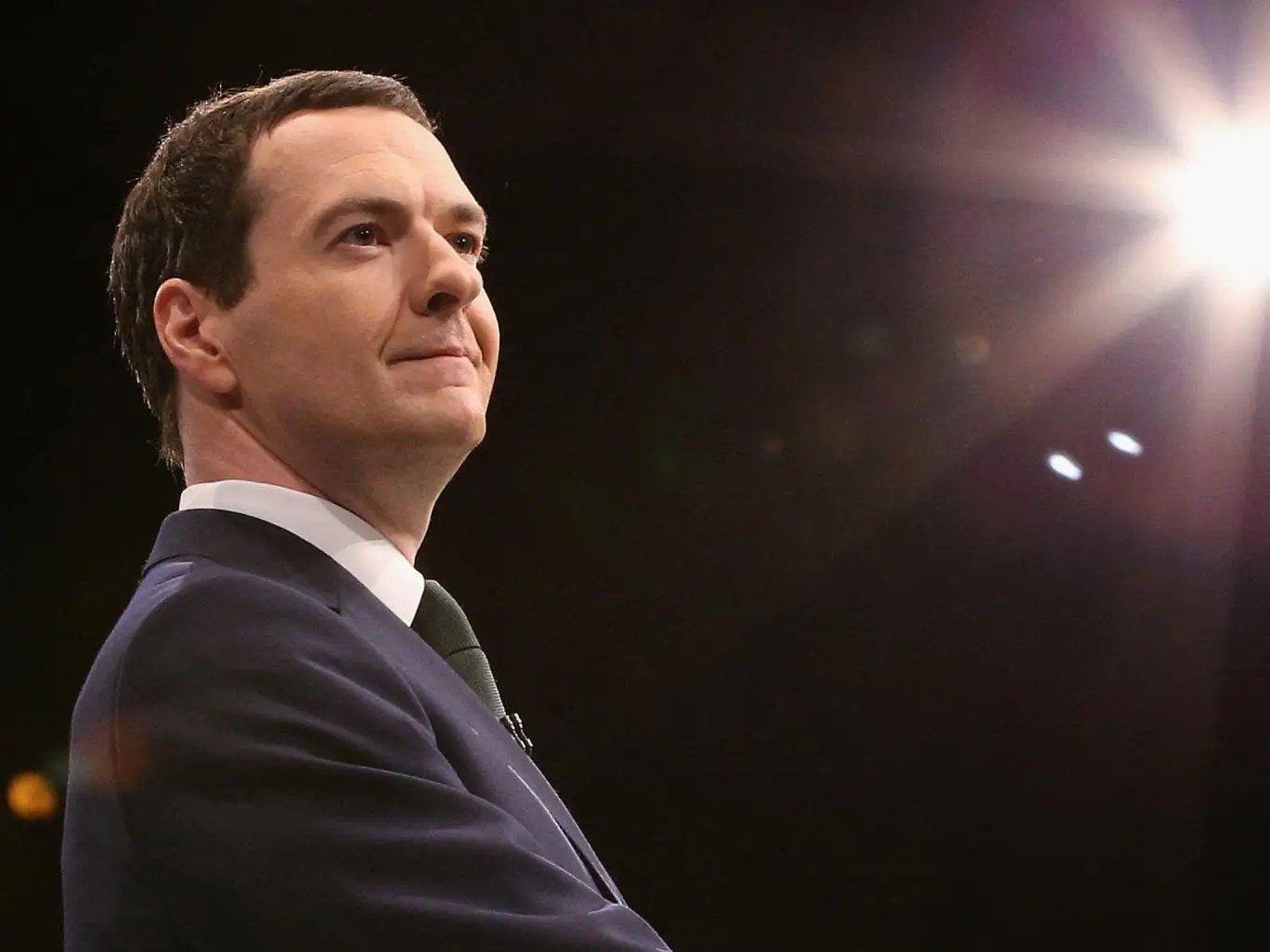 chancellor of the exchequer george osborne addresses the conservative ...