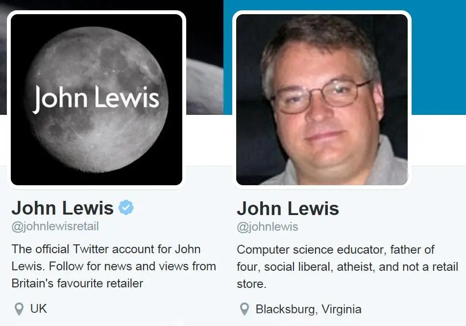 Which came first - John Lewis or John Lewis?
