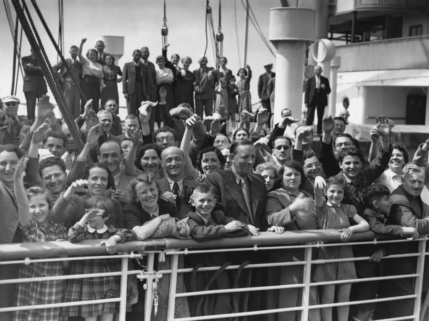 Some of the 700 Jewish refugees aboard Hamburg-America liner St Louis in 1939 Hulton Archive/Getty Images
