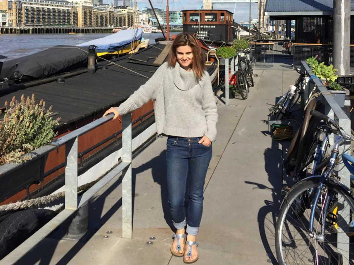 Jo Cox's husband, Brendan, posted a picture of his wife on Twitter shortly after she was attacked. Brendan Cox/Twitter