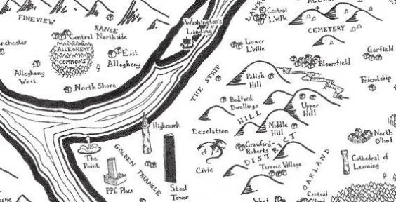 City maps reimagined in style of JRR Tolkien's The Lord of