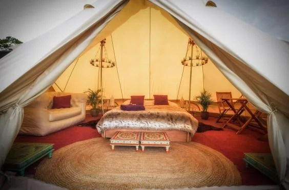 cotton sofa bed sheets willow and hall review glastonbury 2015: how the other half lives in pop up ...
