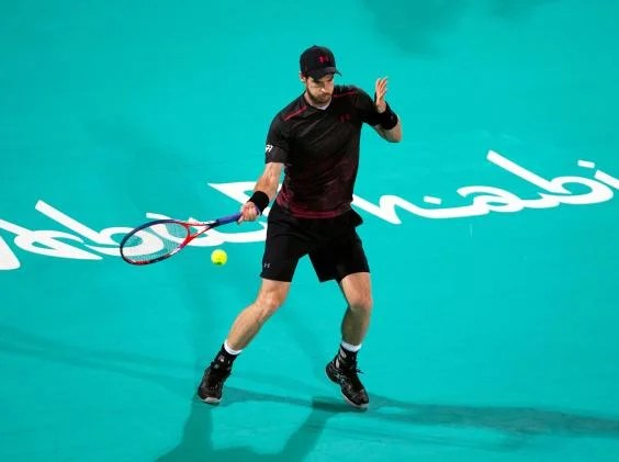 murray forehand - Andy Murray still a long way short of full fitness as he limps to defeat against Roberto Bautista Agut