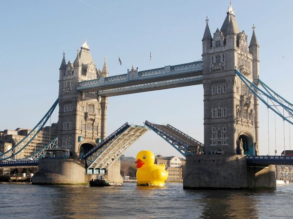 Day Tower Bridge Raised Rubber Duck