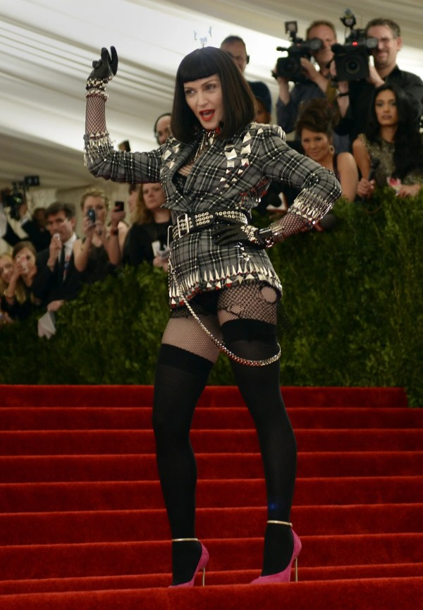 Met Ball 2013 Madonna Displays Punk Credentials In Ripped