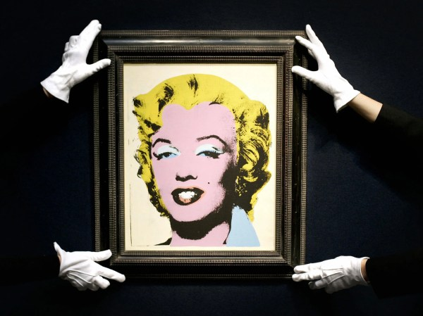Andy Warhol Auction 'white Marilyn' And 'race Riot' Sell