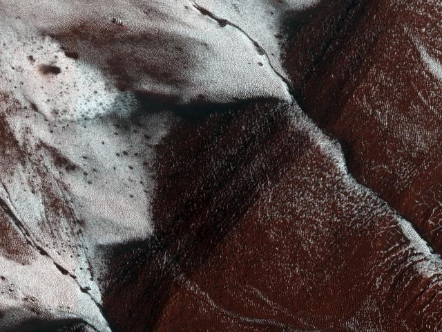 Frosty slopes of Mars