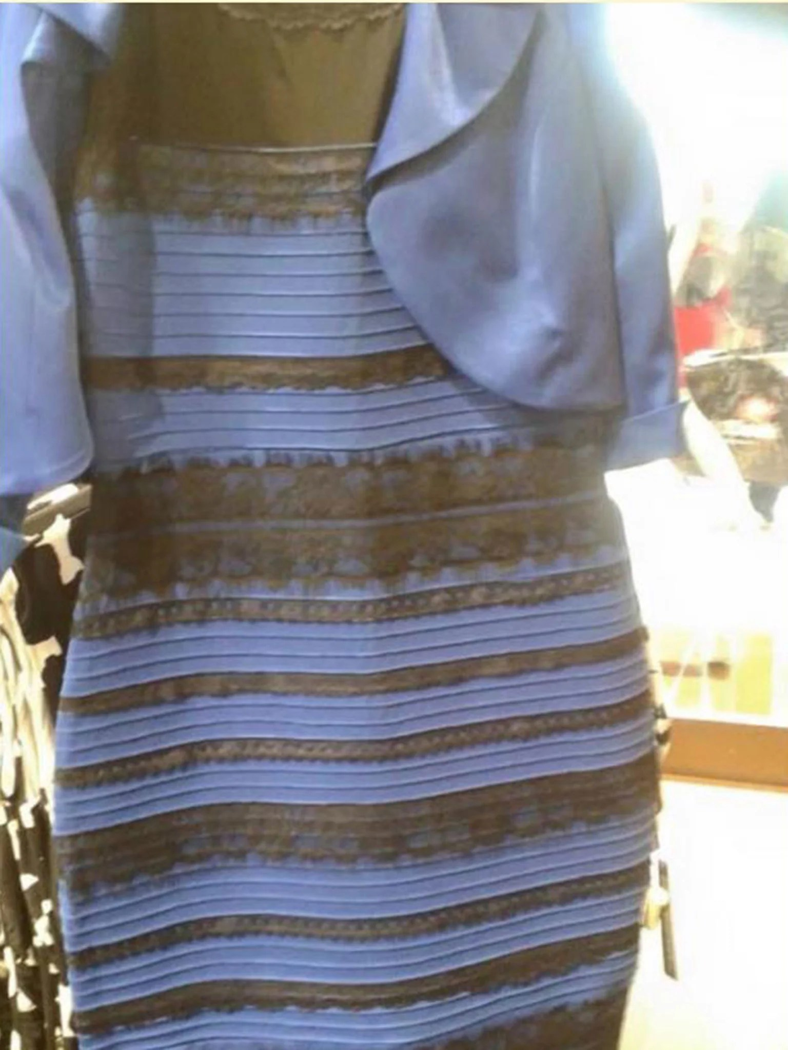 white and gold or