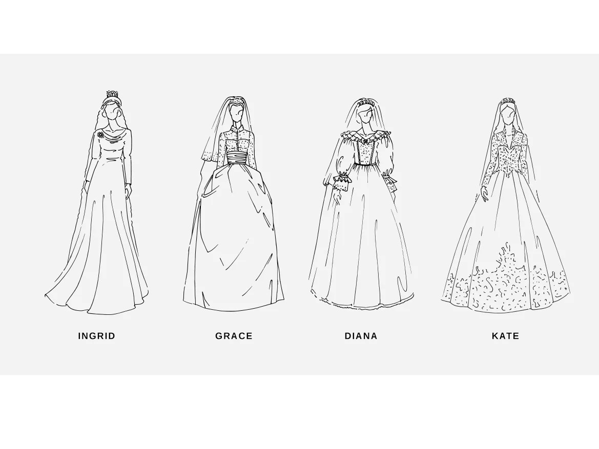 This is what 100 years of Royal wedding dresses look like