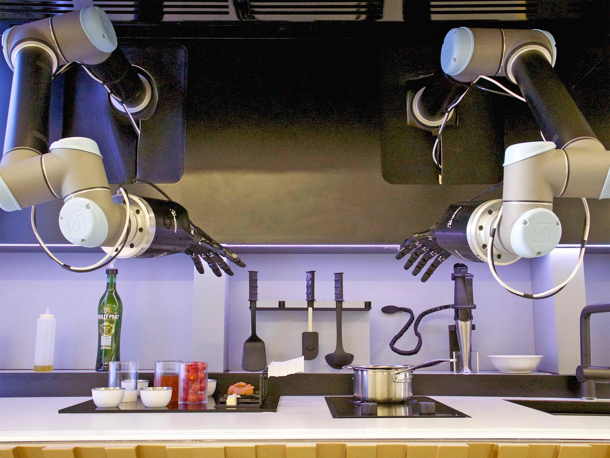 kitchens to go easy kitchen backsplash hi tech from robot chefs recipe shopping apps computerised cooking is coming