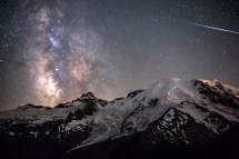 Milky Way above Mount Rainier Washington