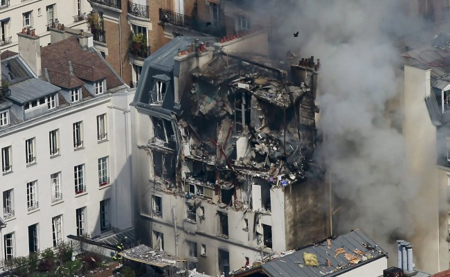 Paris Explosion At Least Five People Injured After Huge Blast Caused By Gas Cooker In French
