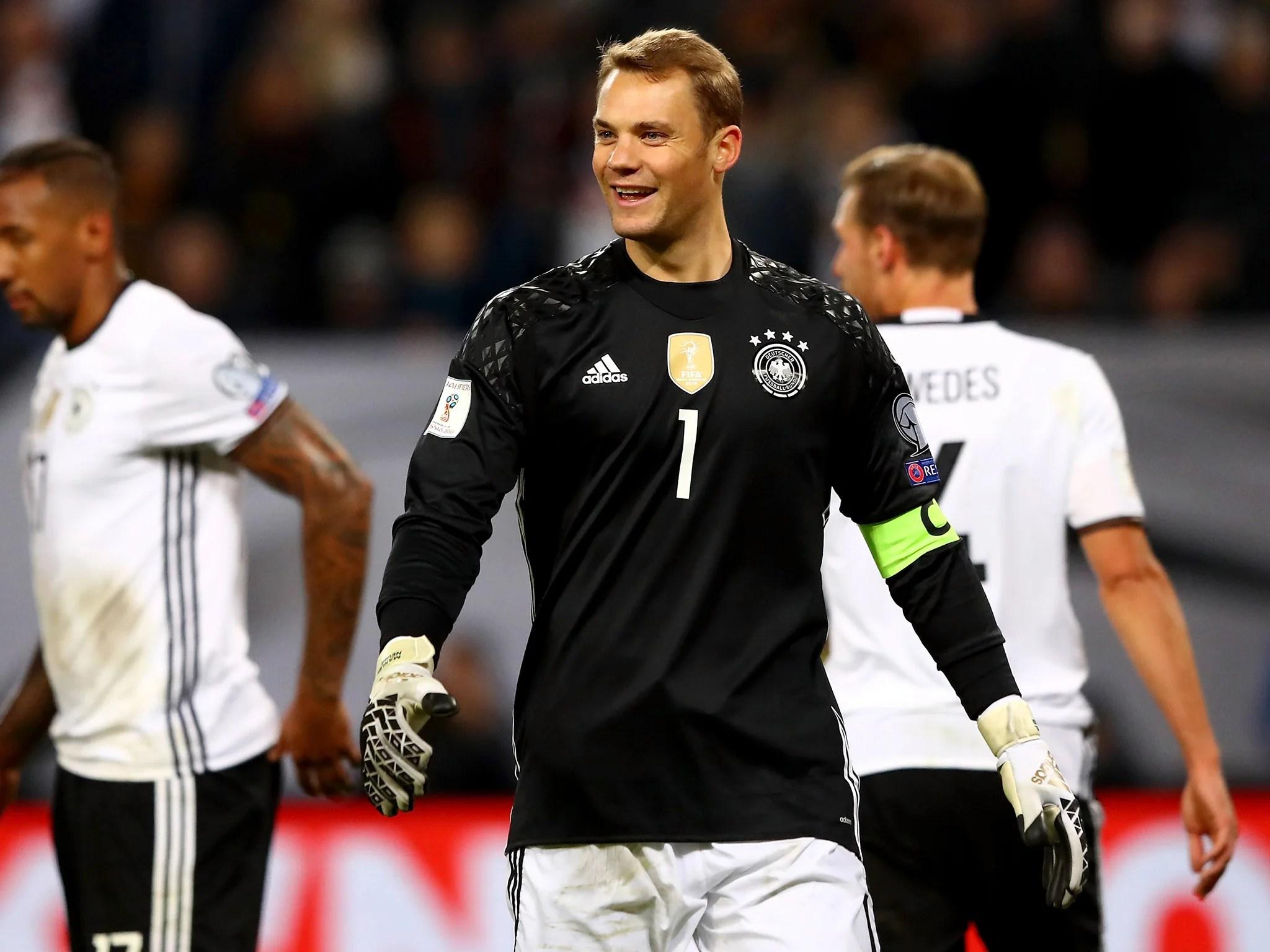 Germany Vs Czech Republic Manuel Neuer Kicks Himself In