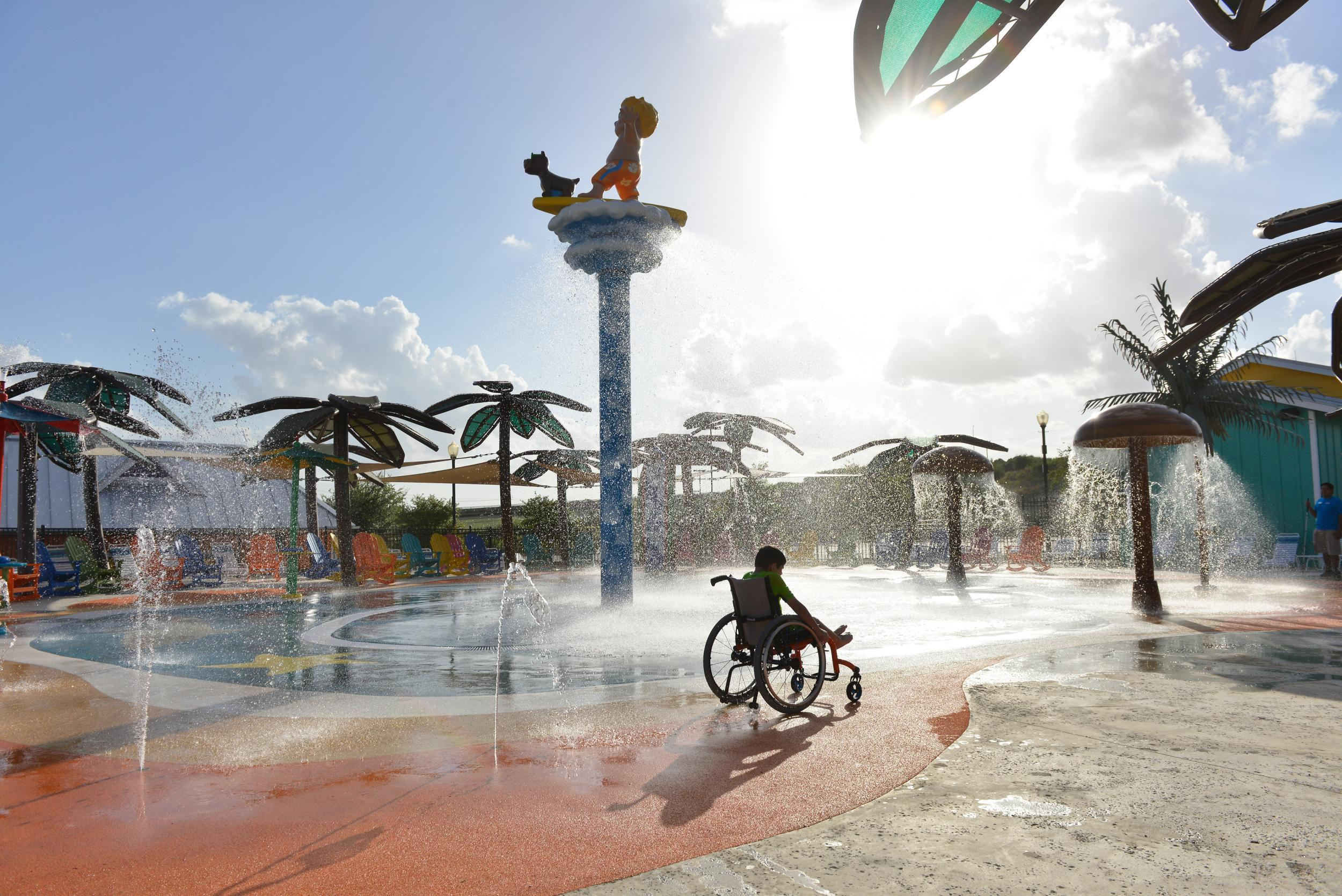 wheelchair hire bali grete jalk chair morgan s inspiration island the world first accessible water park opens this weekend