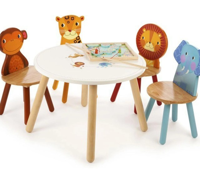 Tidlo Jungle Animal Table And Four Chairs 139 99 Gulliverstoys Co Uk
