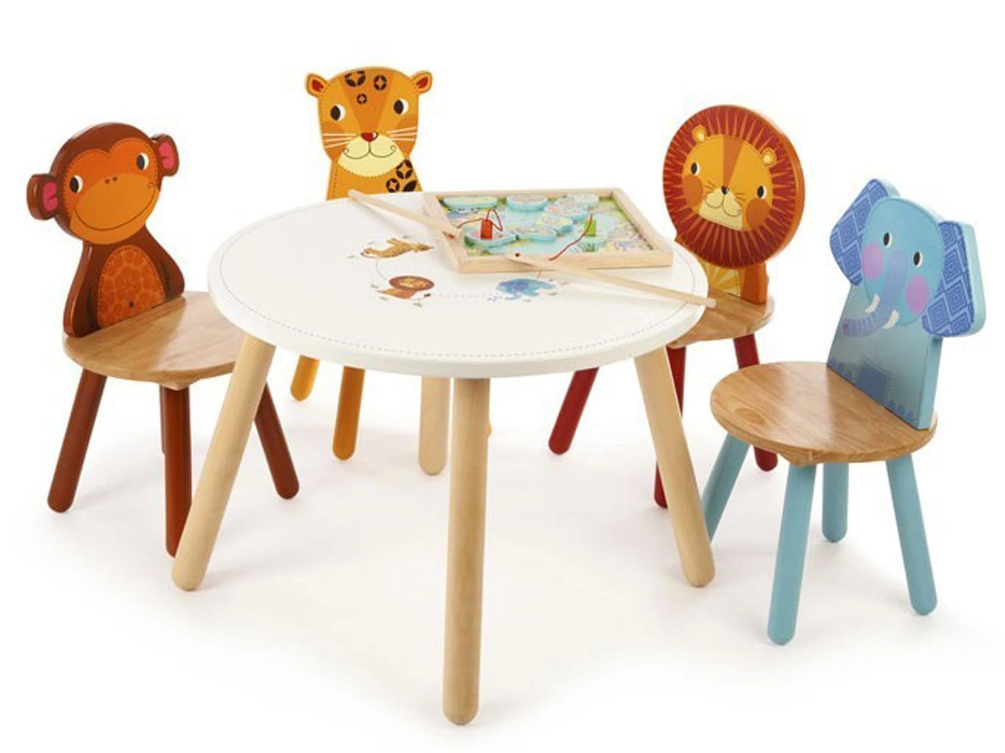 toddler chair and table for eating small chairs kitchen uk 10 best kids tables the independent tidlo jungle animal four 139 99 gulliverstoys co