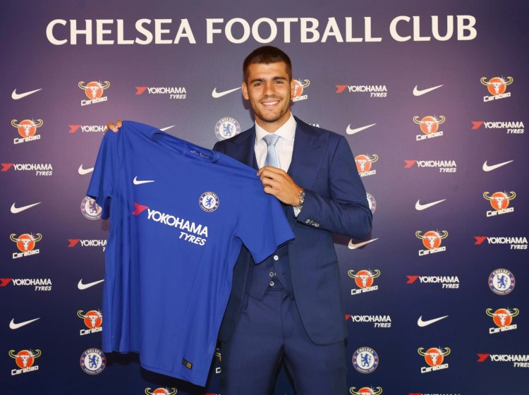 Chelsea complete club-record signing of Alvaro Morata from ...