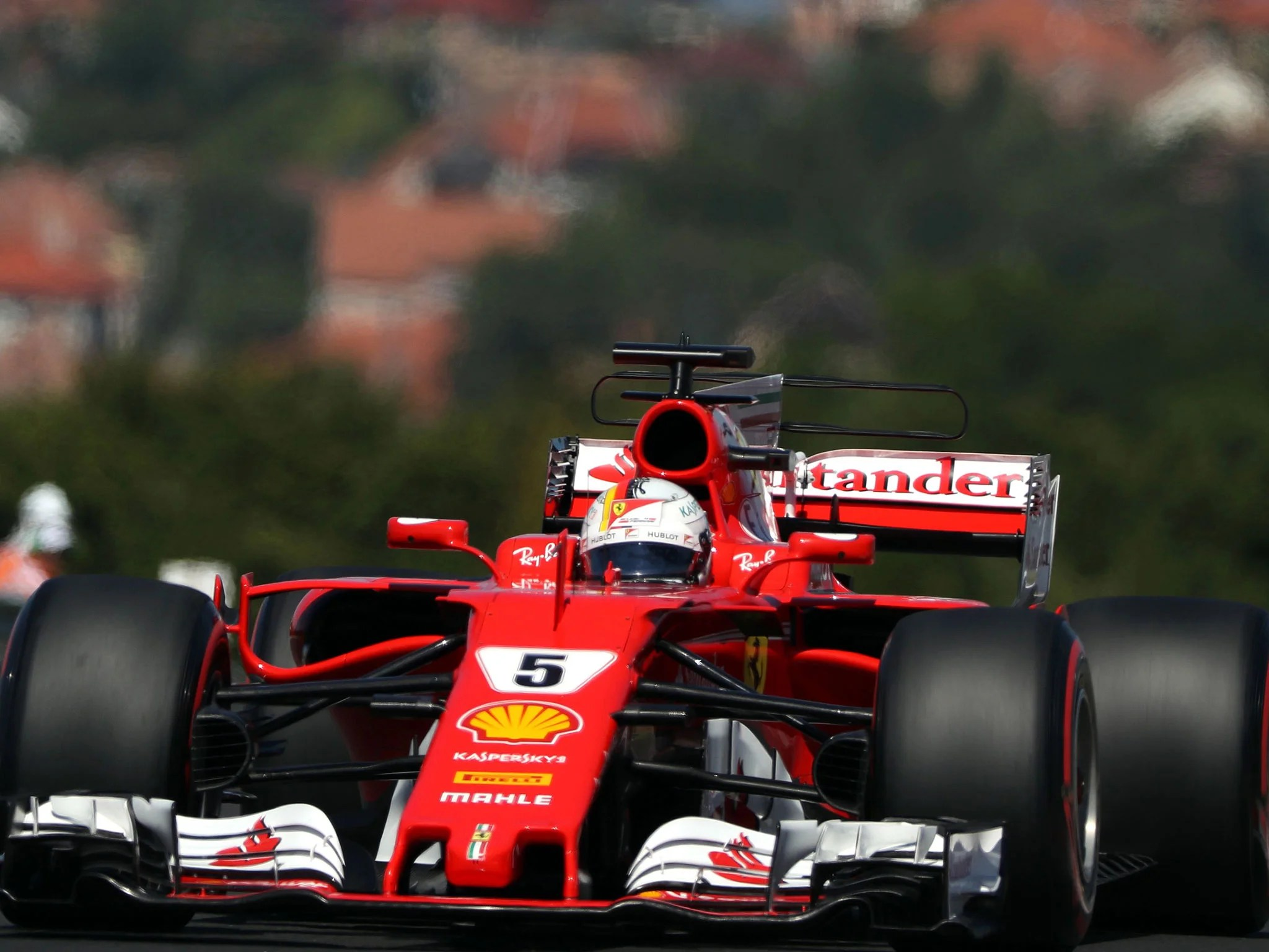 Lewis Hamilton F1 Car Wallpaper Hungarian Grand Prix 2017 Sebastian Vettel Leads Ferrari