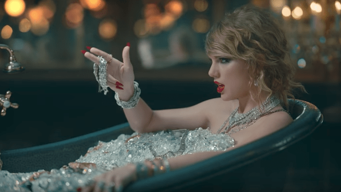 Taylor Swifts Diamond Bath In The LWYMMD Video Was Worth