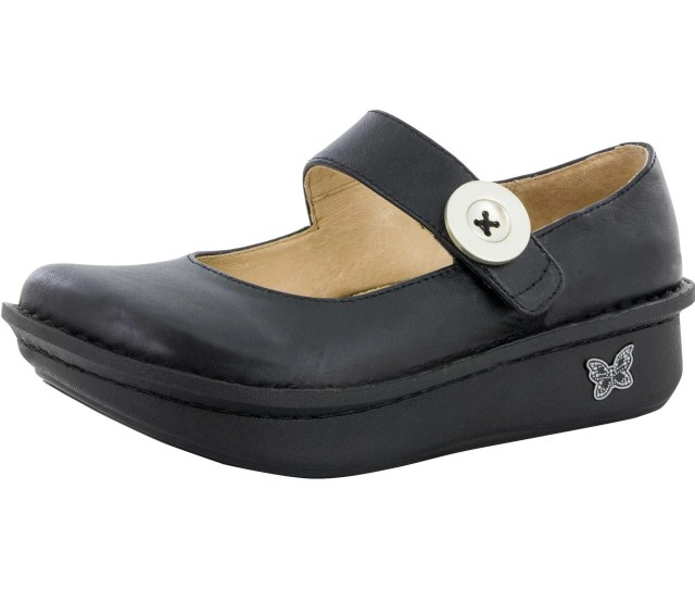 The Funky Shape Of The Black Nappa Leather Alegria Paloma Is For The Trend Setters Rather Than The Followers The Beauty Of This Shoe Design Is The