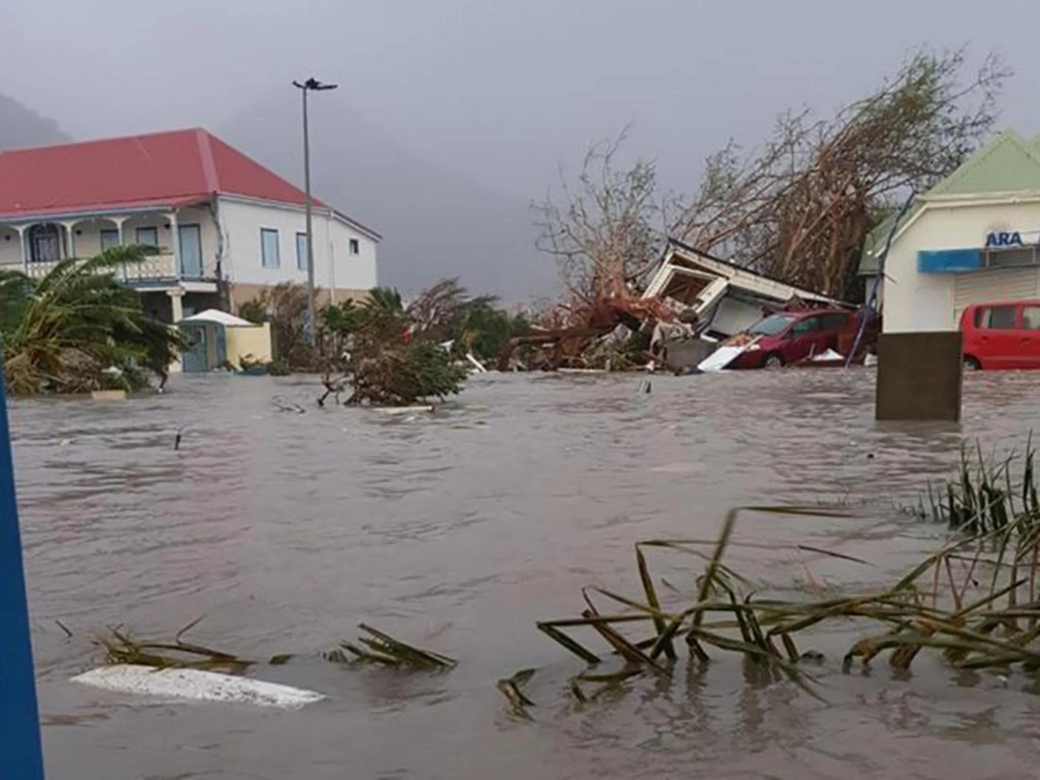 hurricane irma crashes into