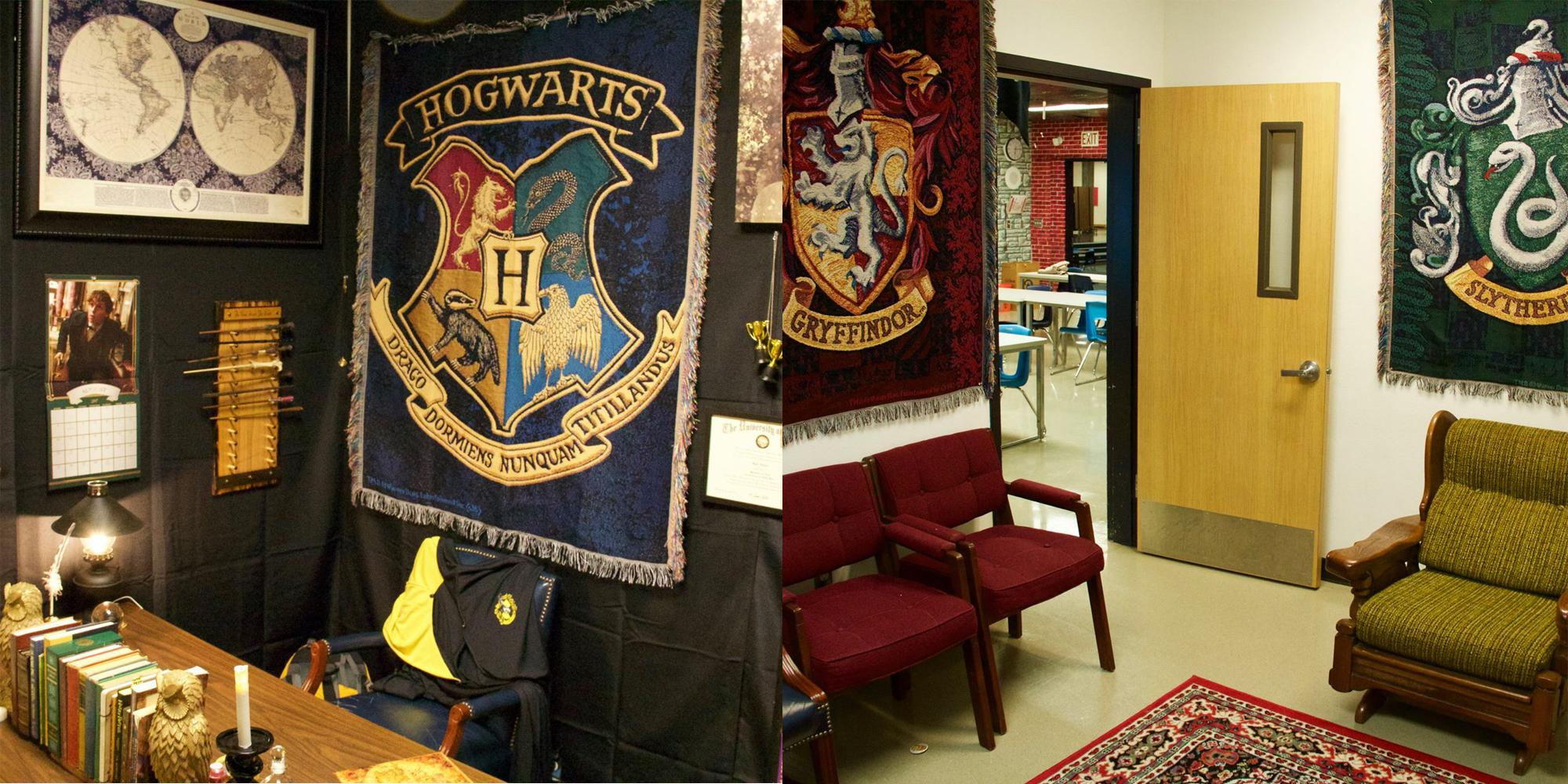 Teacher Spends Week Creating Incredible Harry Potter Themed Classroom