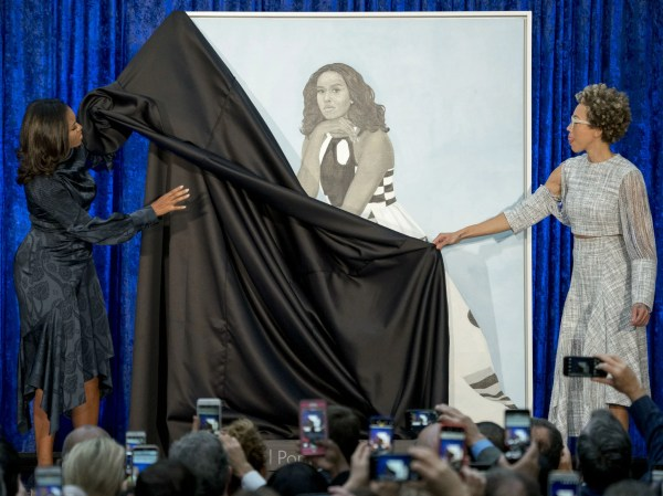 Michelle Obama Official Portrait Unveiled Leaving