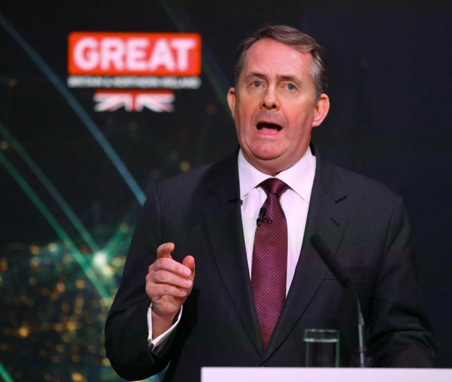 Liam Fox Helped Launch The Ift The Group Organising The Talks