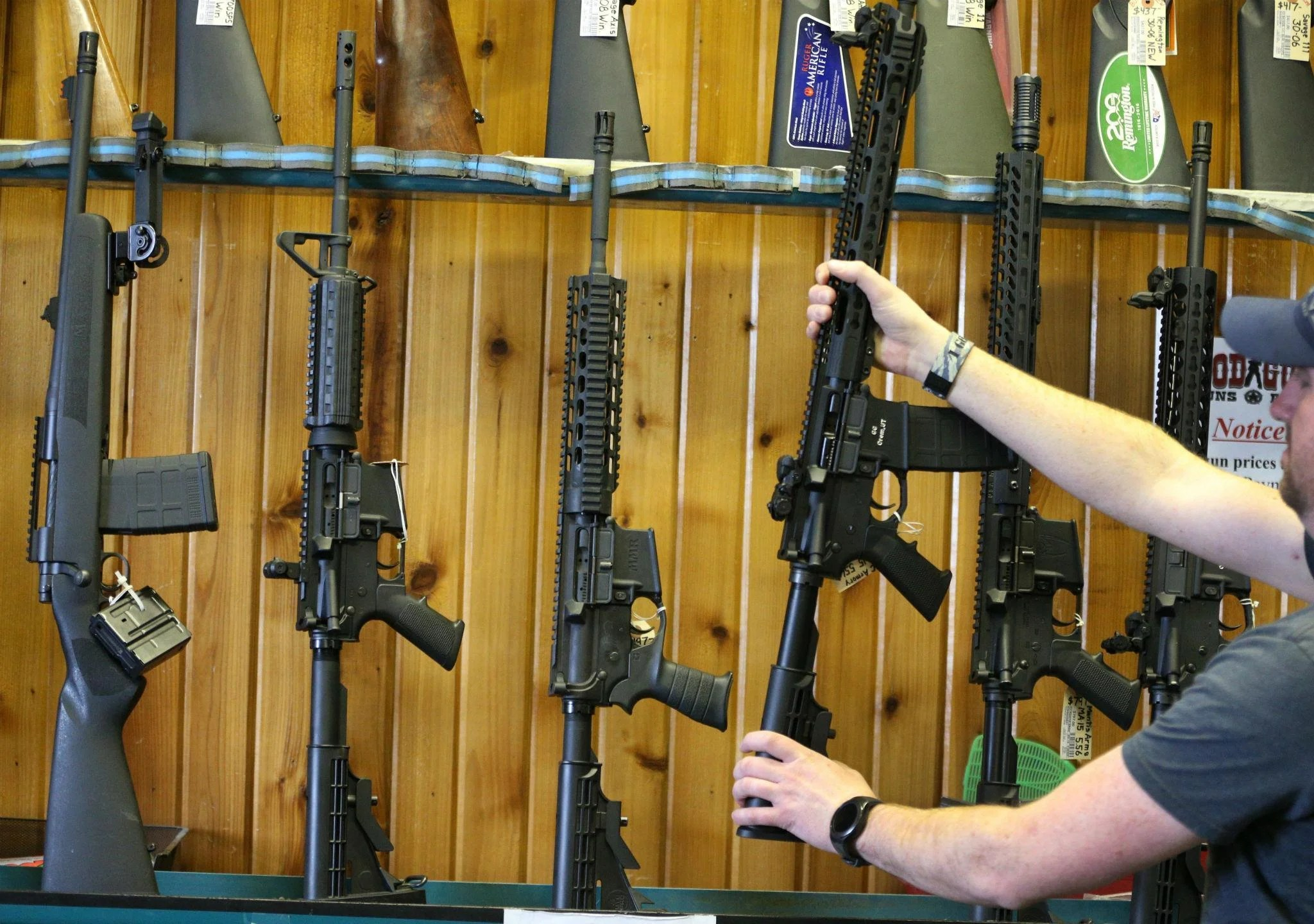 Semi-automatic AR-15's are for sale in Orem, Utah