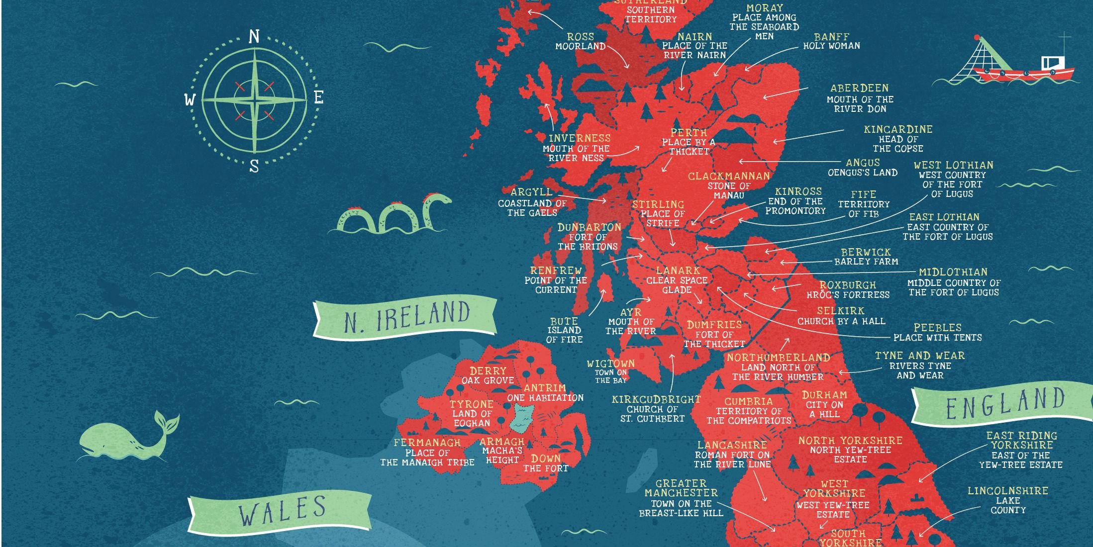 The Literal Meanings Behind Britain S Place Names Mapped