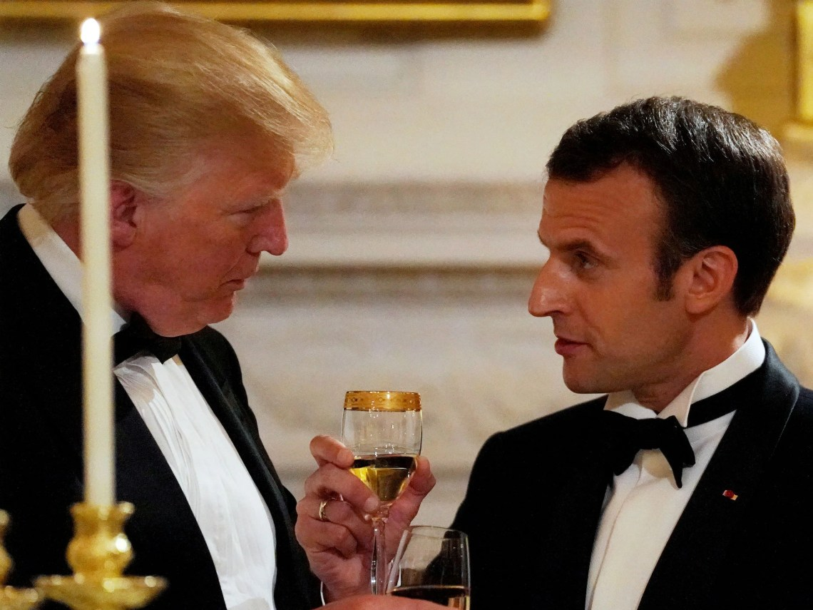 White House staff reportedly said Trump thought a recent call with Macron was 'terrible'