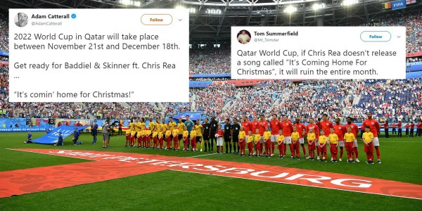 The next World Cup will be held in the winter and everyone