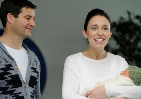 Image score for New Zealand PM Jacinda Ardern Back At Six Weeks After Giving Birth