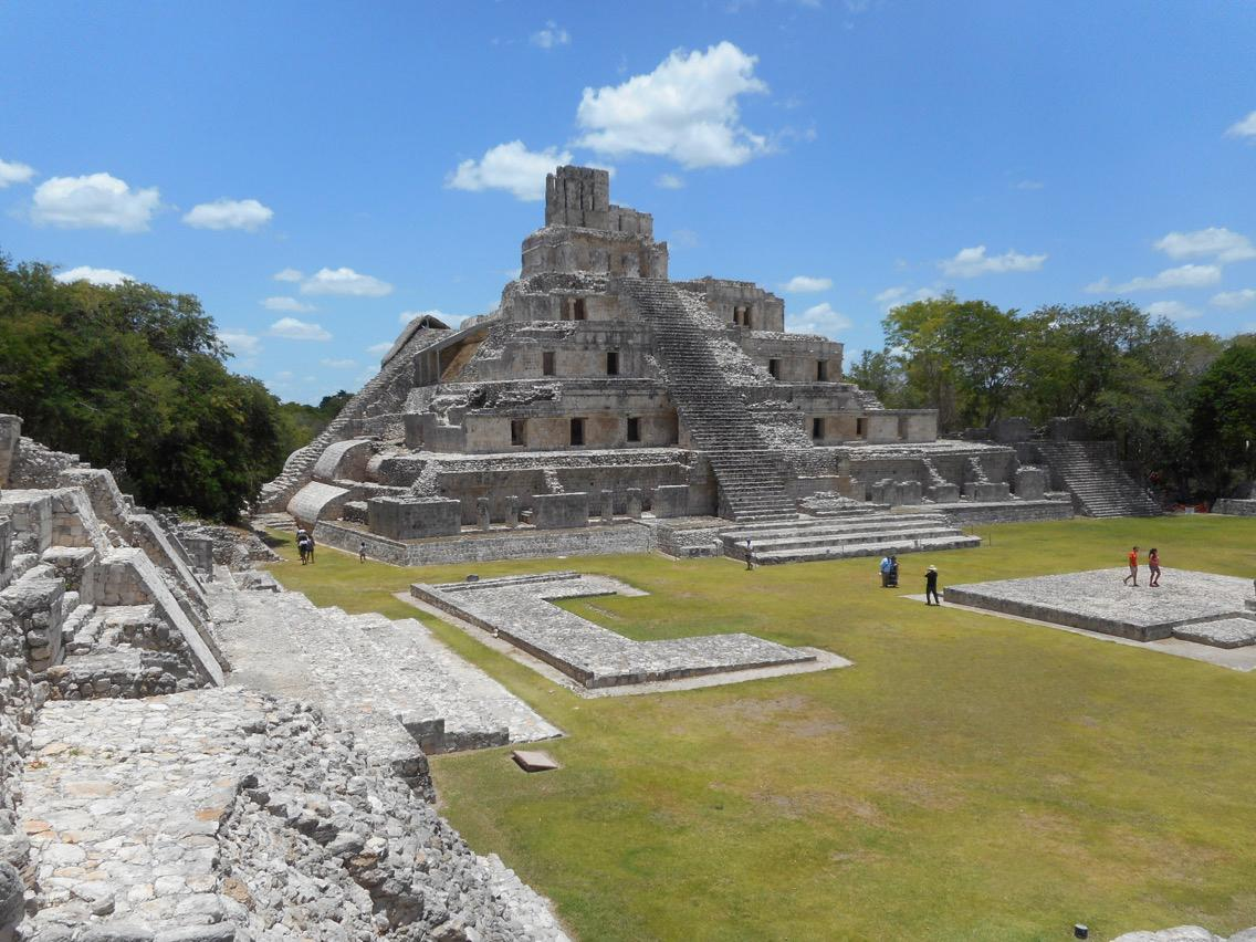 The Classic Maya civilisation collapsed 1,000 years ago leaving behind remnants such as the Edzna ruins at Campeche
