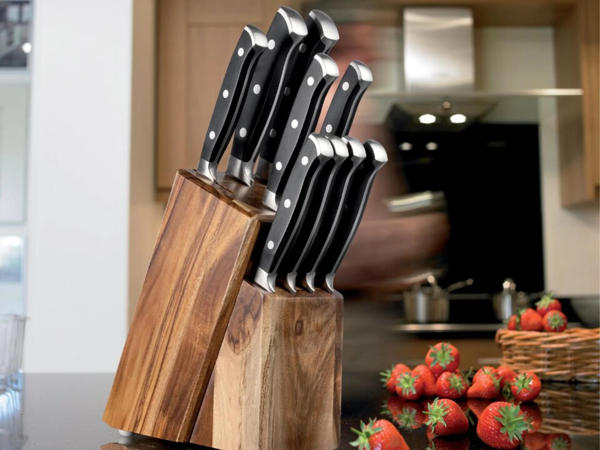kitchen knife sets for sale tall bin 15 best the independent taylor s eye witness set includes four steak knives