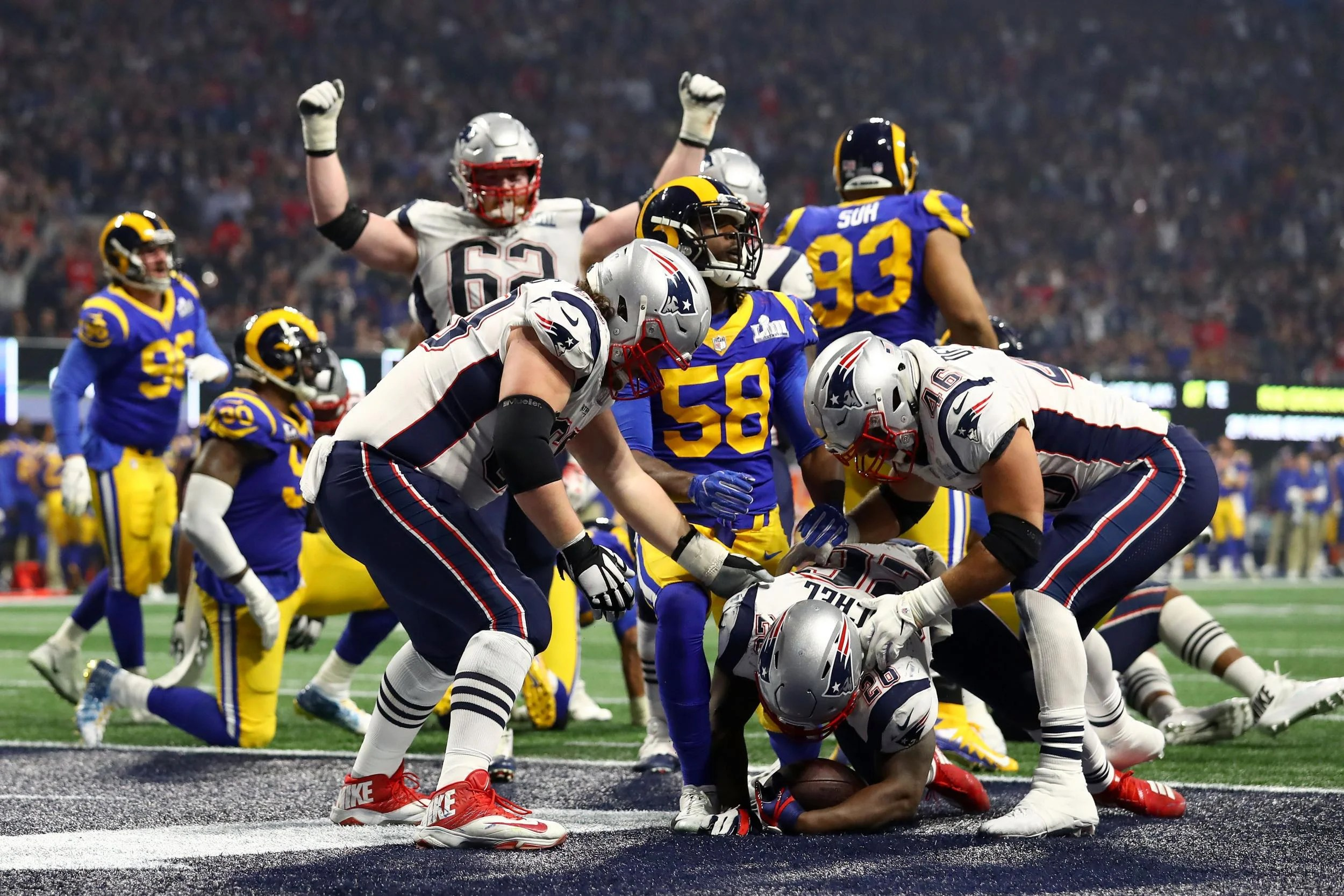 Super Bowl Final Score Patriots Beat Rams In Lowest