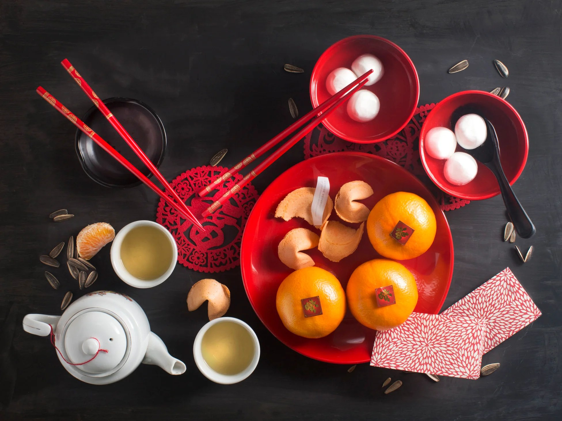 Chinese Lunar New Year Seven Lucky Foods Eaten In