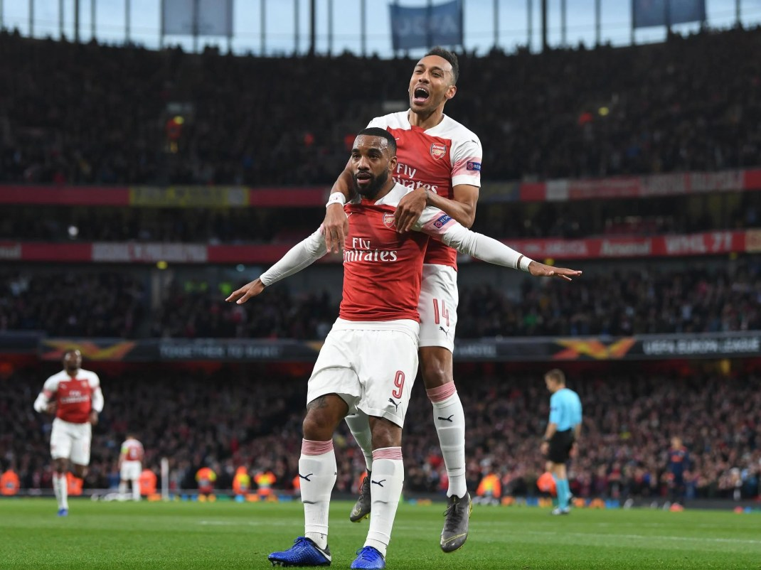 Arsenal vs Valencia result: Alexandre Lacazette strikes twice as ...