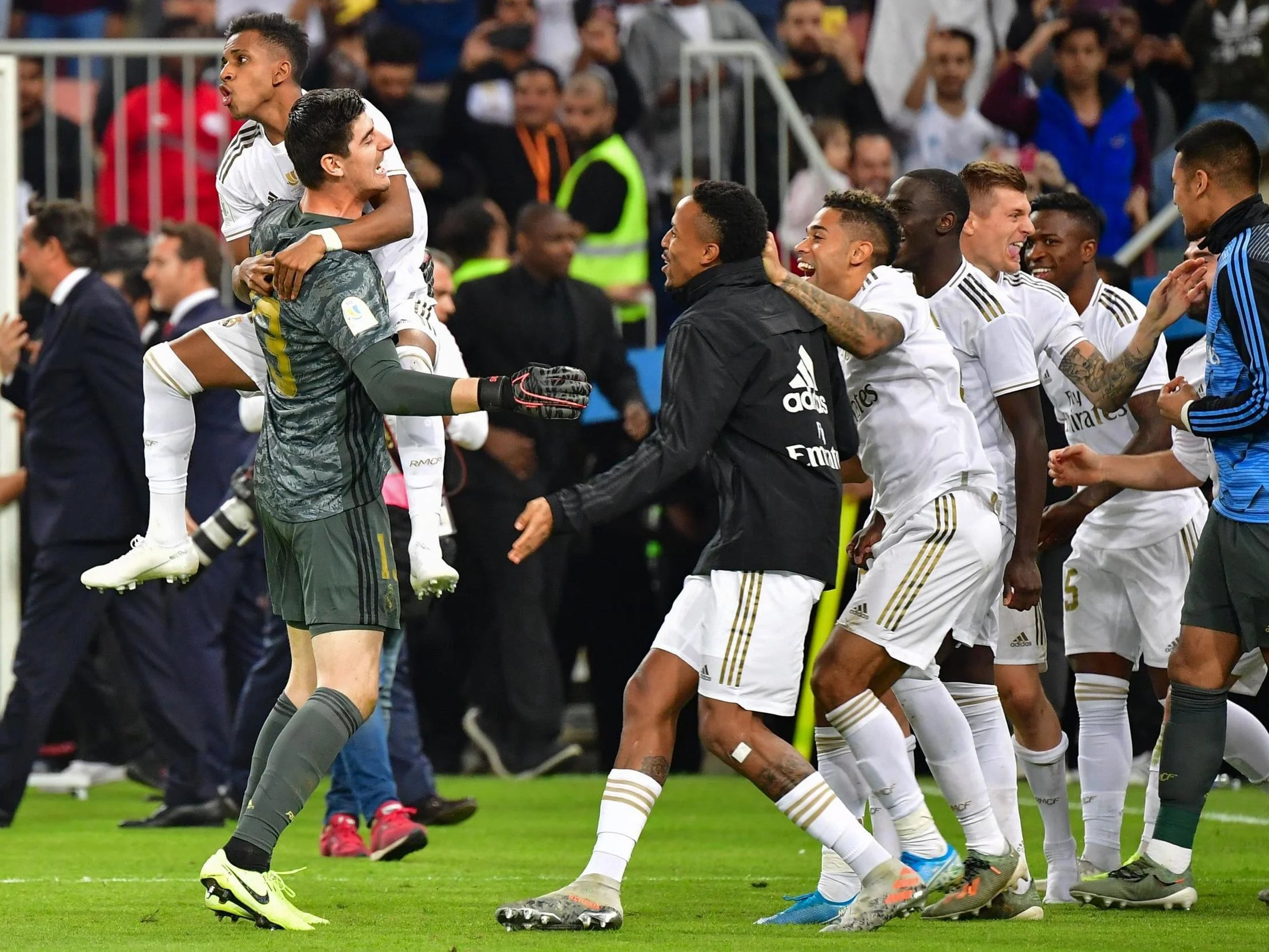 Real Madrid lift the Spanish Super Cup after beating Atletico on penalties