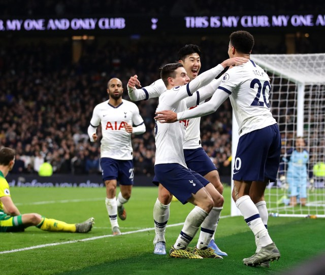 Tottenham Get The Job Done In Ugly Win Over Norwich The Independent