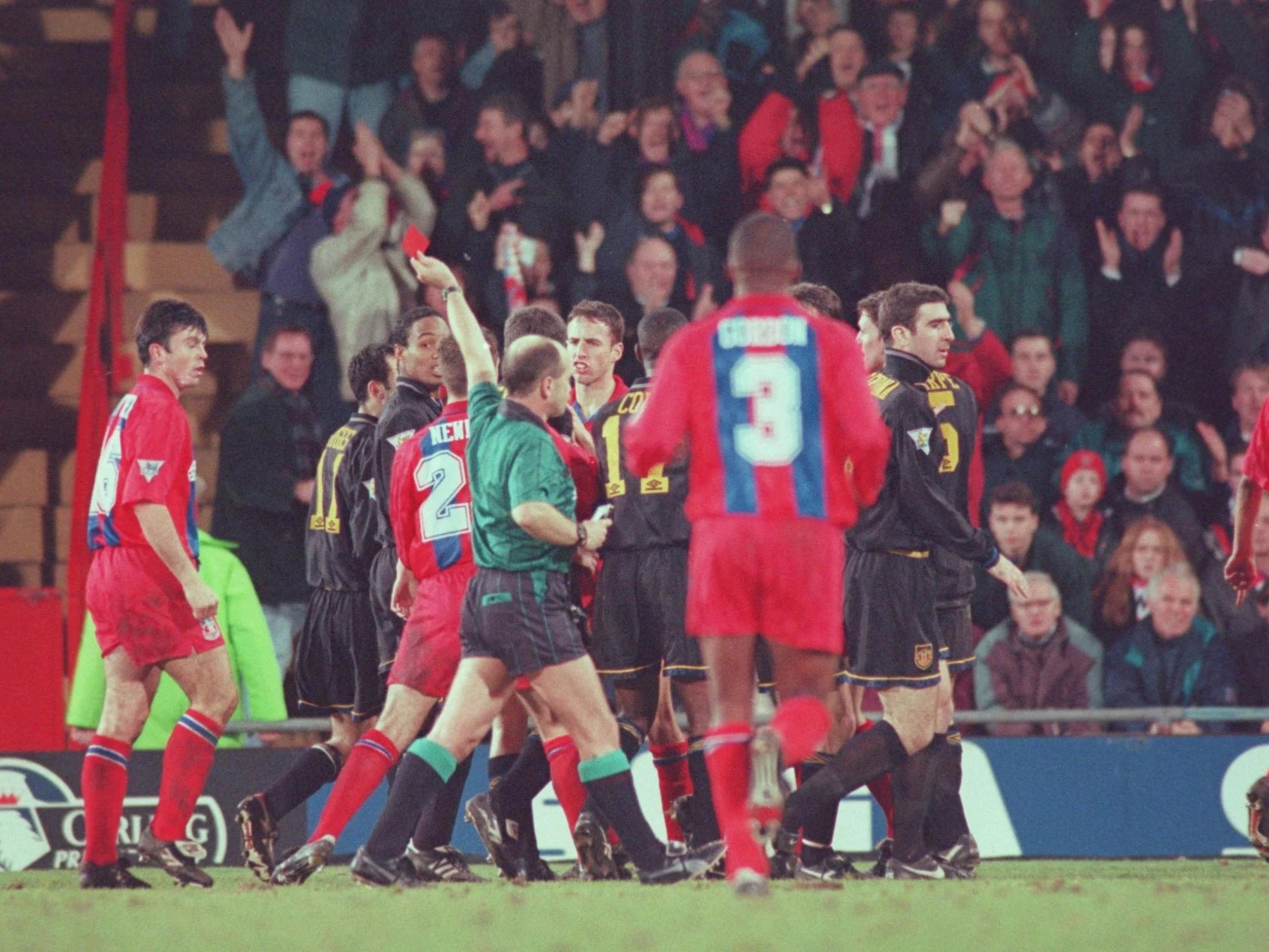 It happened on 25 january 1995 at selhurst park when a crystal palace fan called matthew simmons ran down 11 rows of stairs to shout at cantona after he had. Eric Cantona Remembering When Manchester United Forward Kung Fu Kicked A Fan 25 Years On The Independent The Independent
