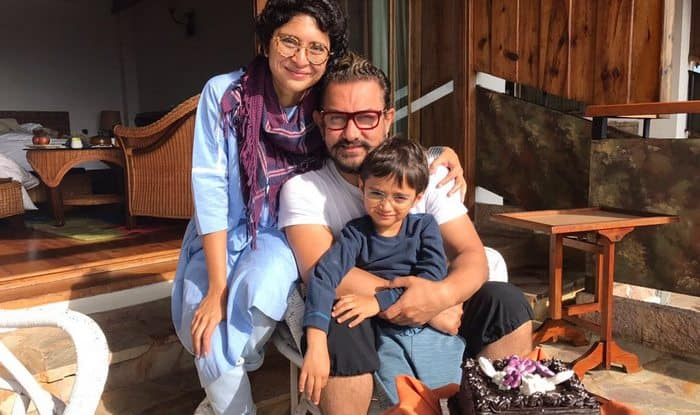 Kiran Rao birthday: Aamir Khan posts perfect family picture with wife Kiran  and son Azad Rao Khan! | India.com