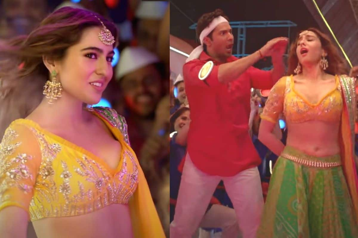 Sara Ali Khan Does Naagin Dance, Sizzles in Yellow Lehenga in 'Teri Bhabhi' Song From Coolie No. 1
