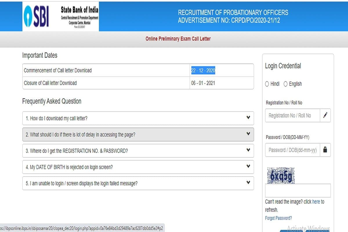 SBI PO Admit Card 2020 Released