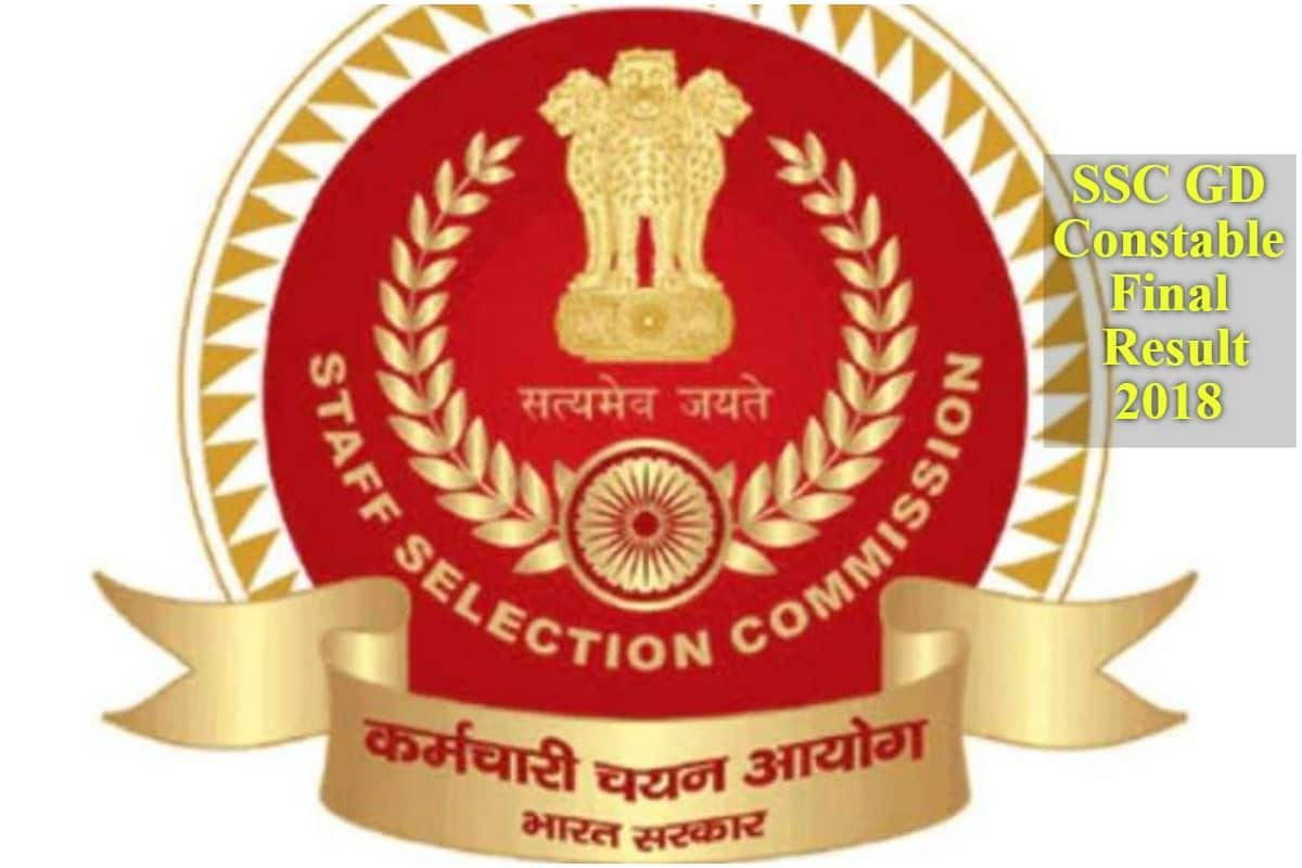 SSC GD Constable Final Results 2018 DECLARED