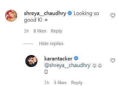 Karan Tacker and Shreya Chaudhry's conversations