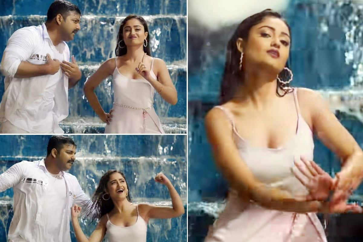 Tridha Choudhury Goes Bold And Dances in Rain With Bhojpuri Star Pawan Singh