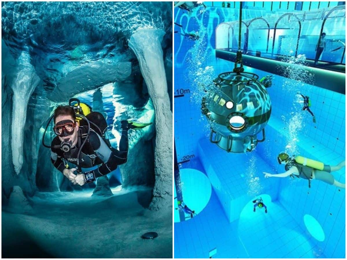 World's Deepest Swimming Pool In Poland Features Underwater Rooms And Caves