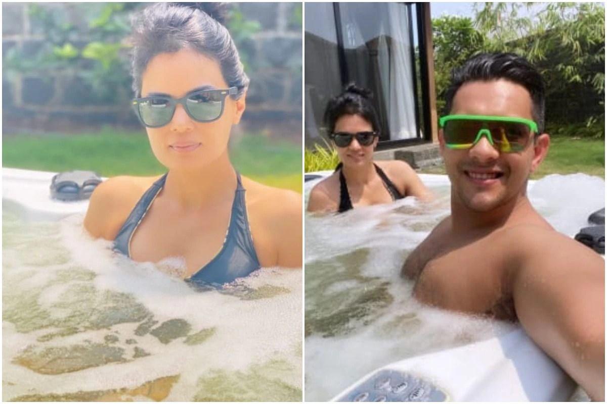 Aditya Narayan Takes a Break From Indian Idol 12, Shares Jacuzzi Pics With Wife Shweta Agarwal