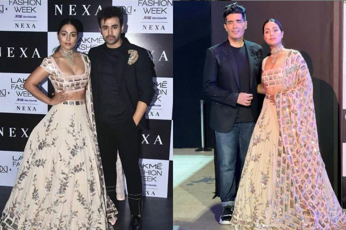 Hina Khan Grabs Eyeballs as She Steps at Manish Malhotra's Lakme Fashion Week 2021, Looks Hot in Lehenga